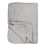 Tagesdecke - weiß/grau gestreift 130 x 180 cm