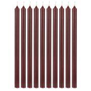 Pencil Kerzen extralang - dunkelrot 10 Stk.