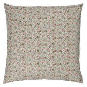 Kissenbezug - Blumenmuster grün/rot 60 x 60 cm