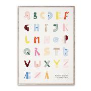 Poster - Alphabet Spaghetti - dänisch 50x70 cm