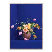 Poster - Blomst 01 - Blue - 50x70 cm